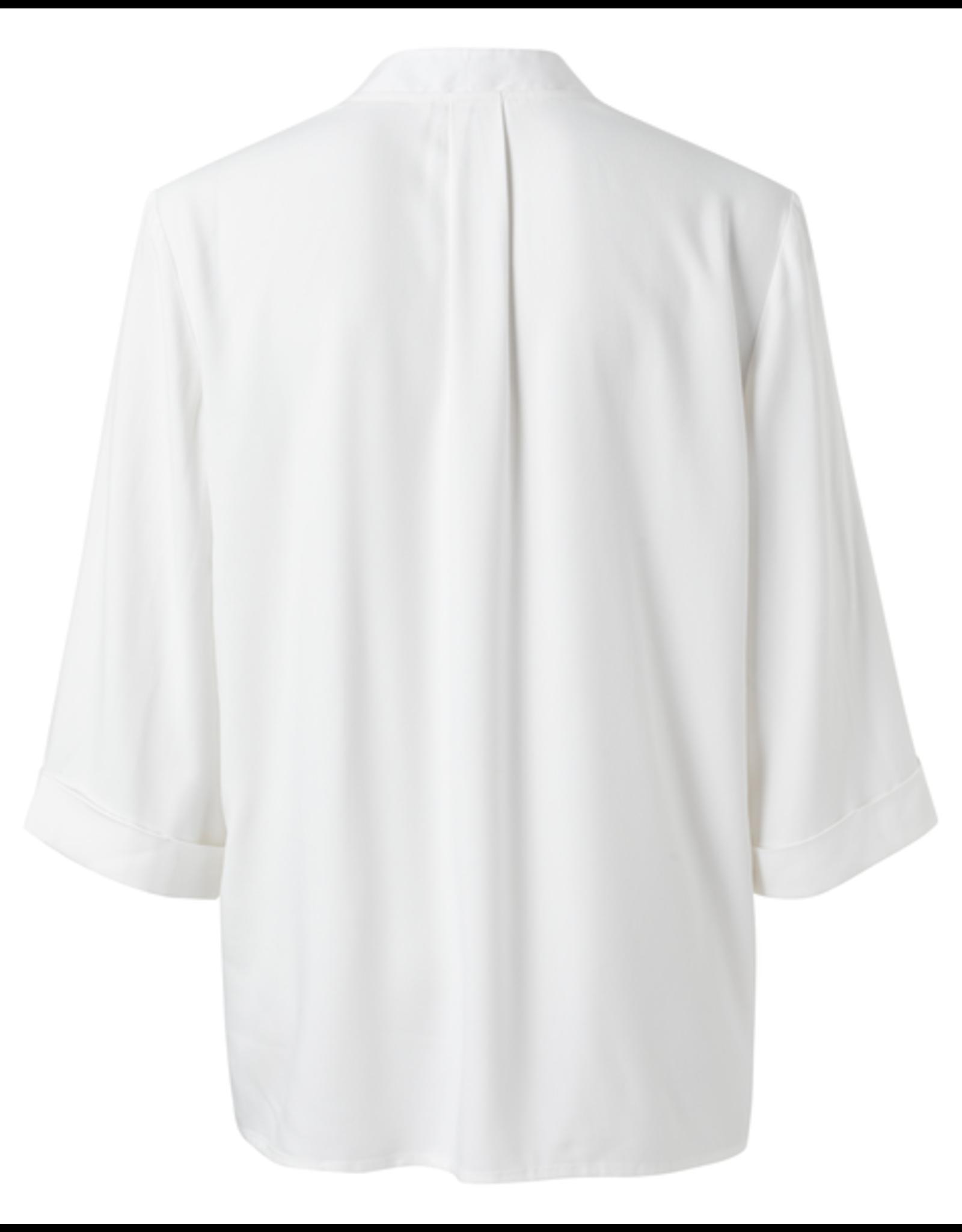 YAYA YAYA V-neck blouse with 3/4 sleeves blanc de blanc
