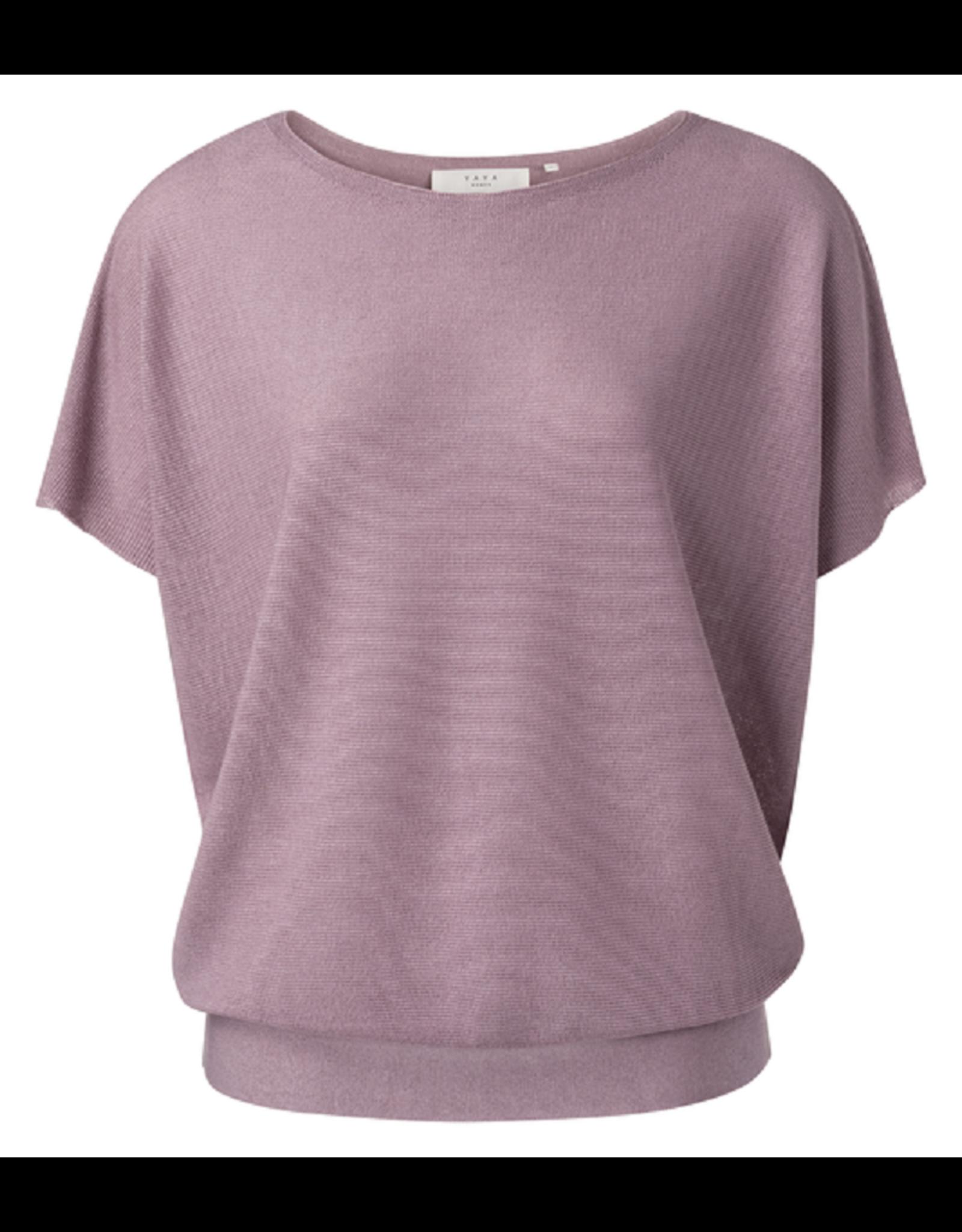 YAYA YAYA Slik blend sweater rib detail Lilac