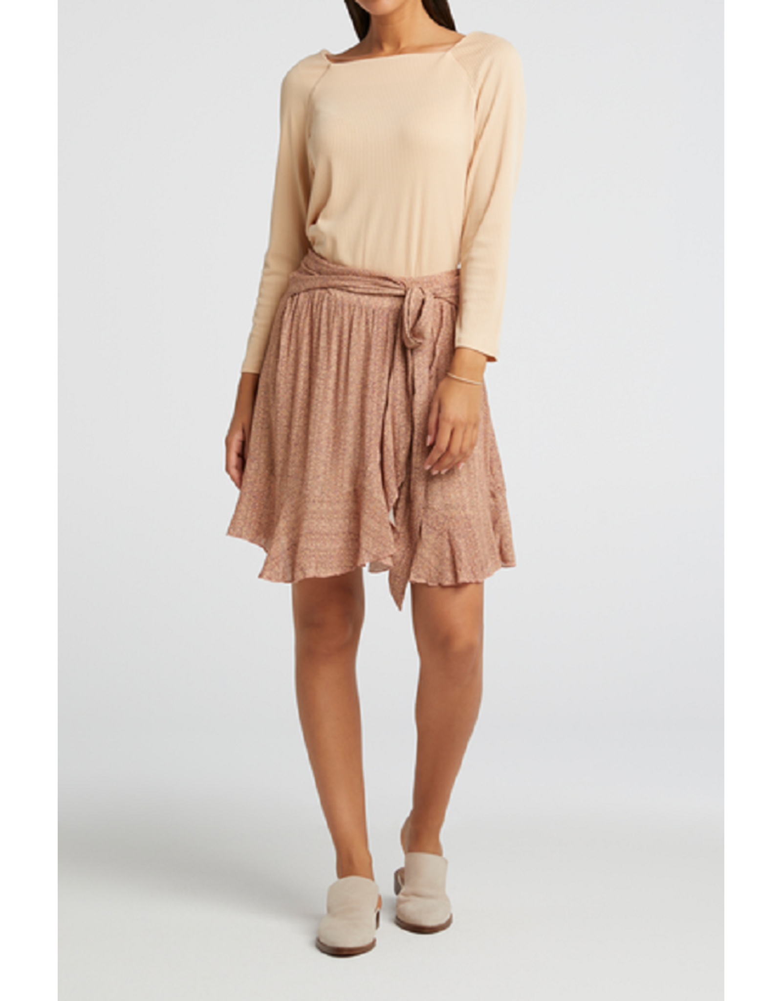 YAYA YAYA mini skirt with wrap effert Pale