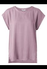 YAYA YAYA cupro blend fabric mix t-shirt lilac