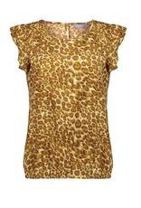 Geisha Geisha leopard top ruffles
