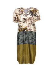 Geisha Geisha dress combi print13226-20-720