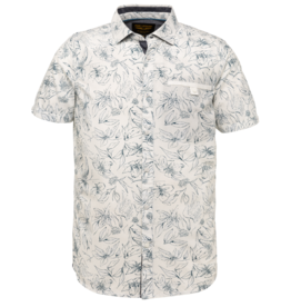 PME Legend PME Legend SLeeve Shirt Poplin print Bright white 7003