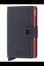 Secrid Secrid Miniwallet mat blauw oranje