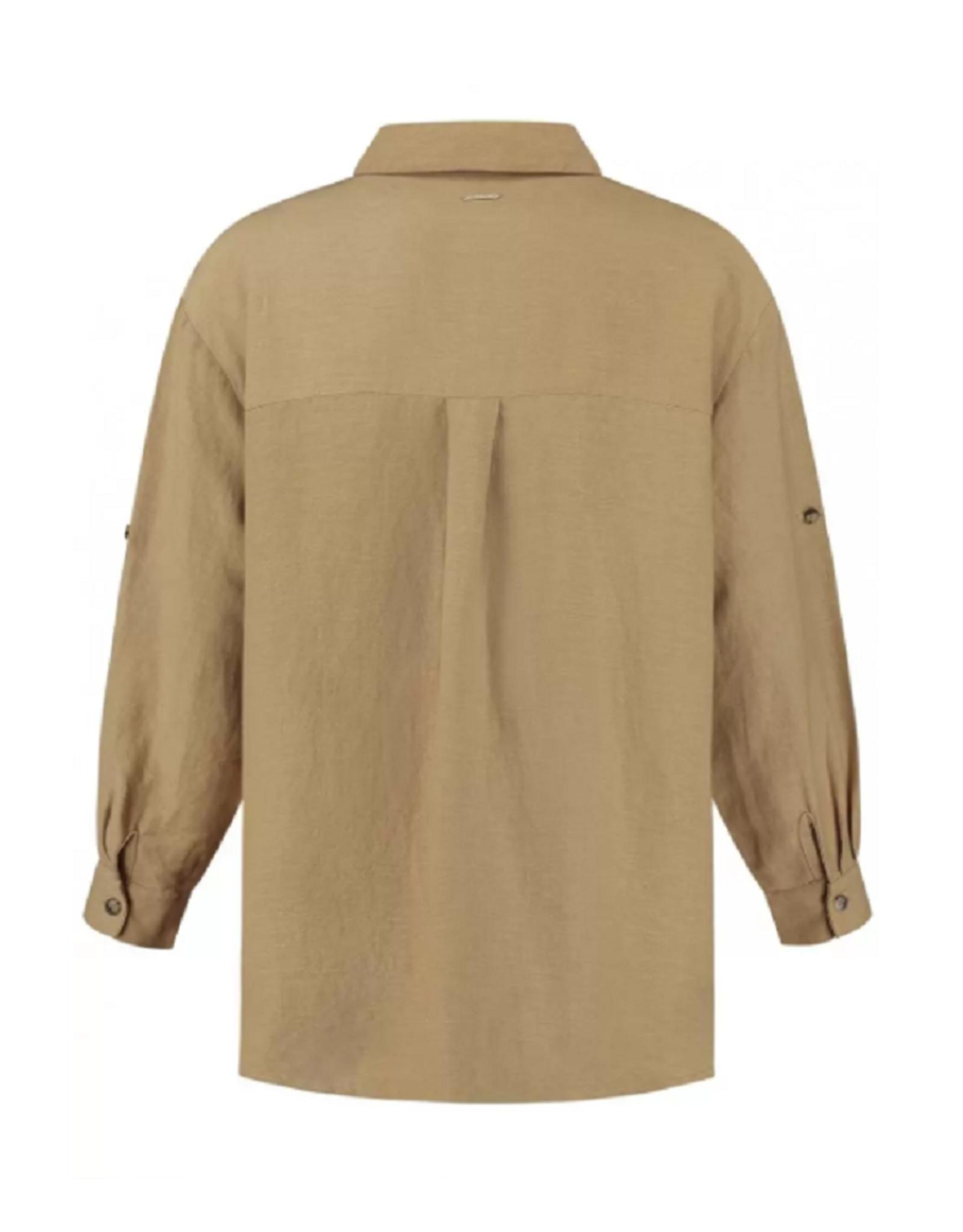 Circle of Trust Circle of Trust Dahlia blouse safari