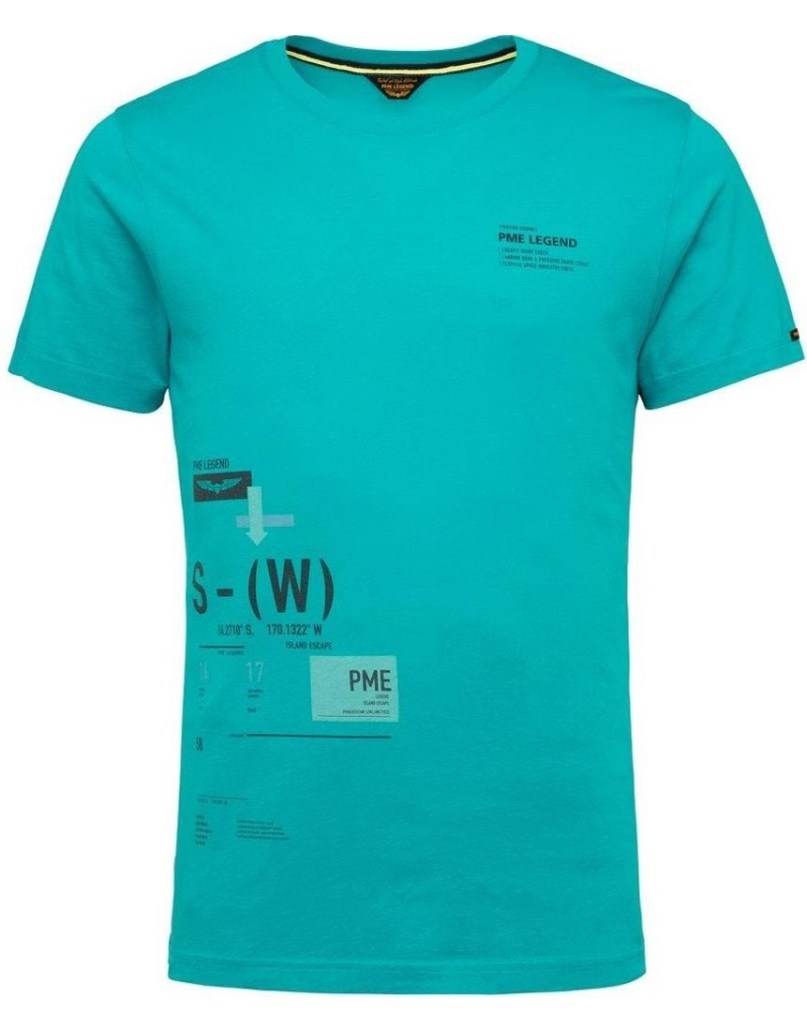 PME Legend PME Legend t-shirt Peacock blue 5225