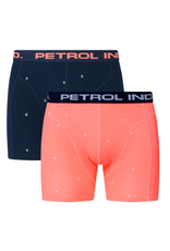 Petrol Ind. Petrol boxershorts 2-pack BXR004 coral blauw