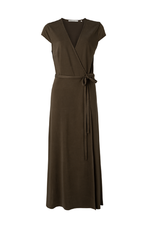 YAYA YAYA overslag jurk bruin 1809342