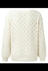 YAYA YAYA stitch sweater bleached sand