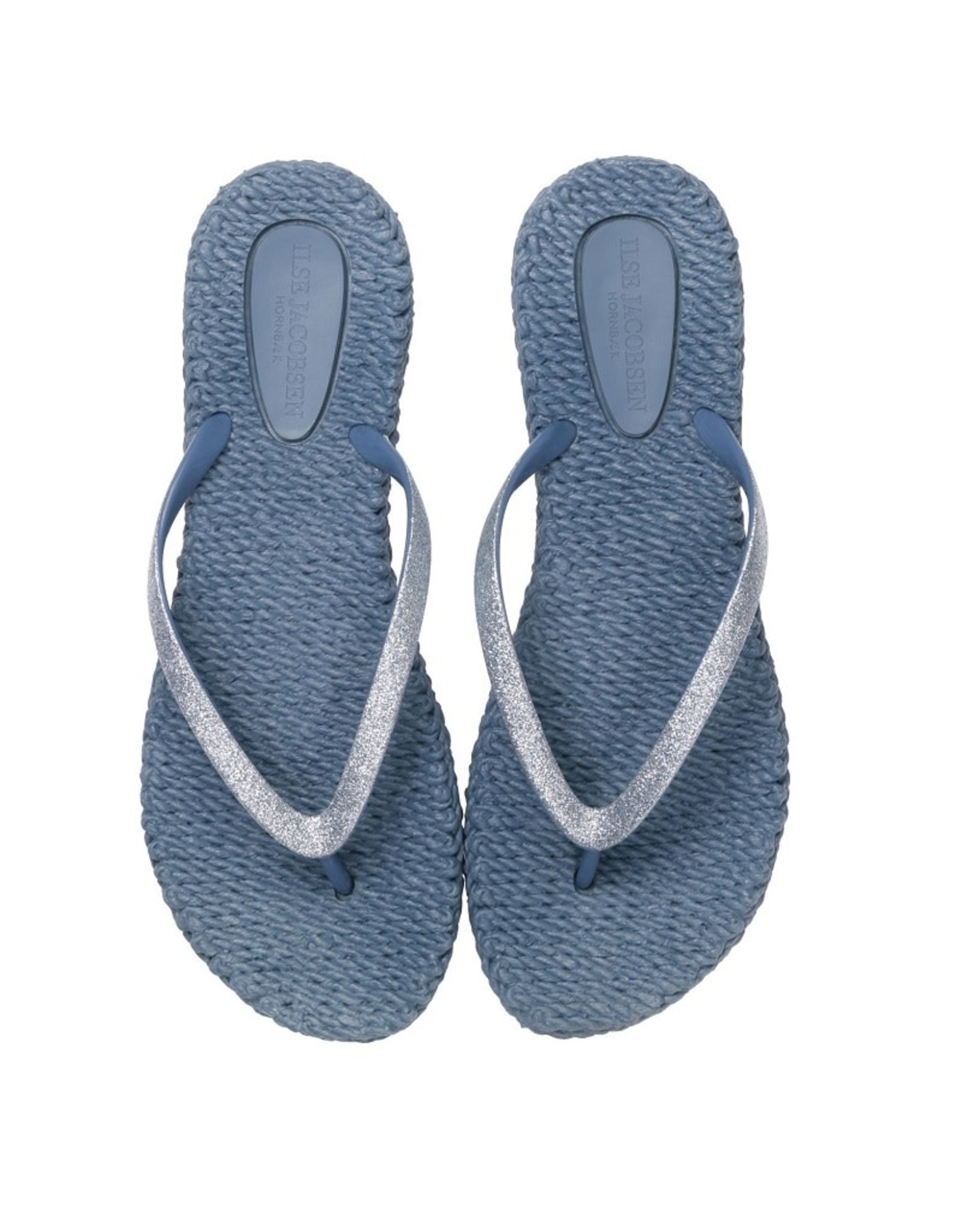 Ilse Jacobsen Ilse Jacobsen slippers met glitters Grijs