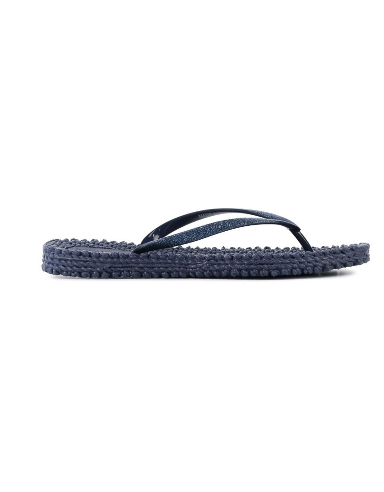 Ilse Jacobsen Ilse Jacobsen slippers met glitters Blauw