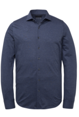 Vanguard Vanguard overhemd Pique melange blauw
