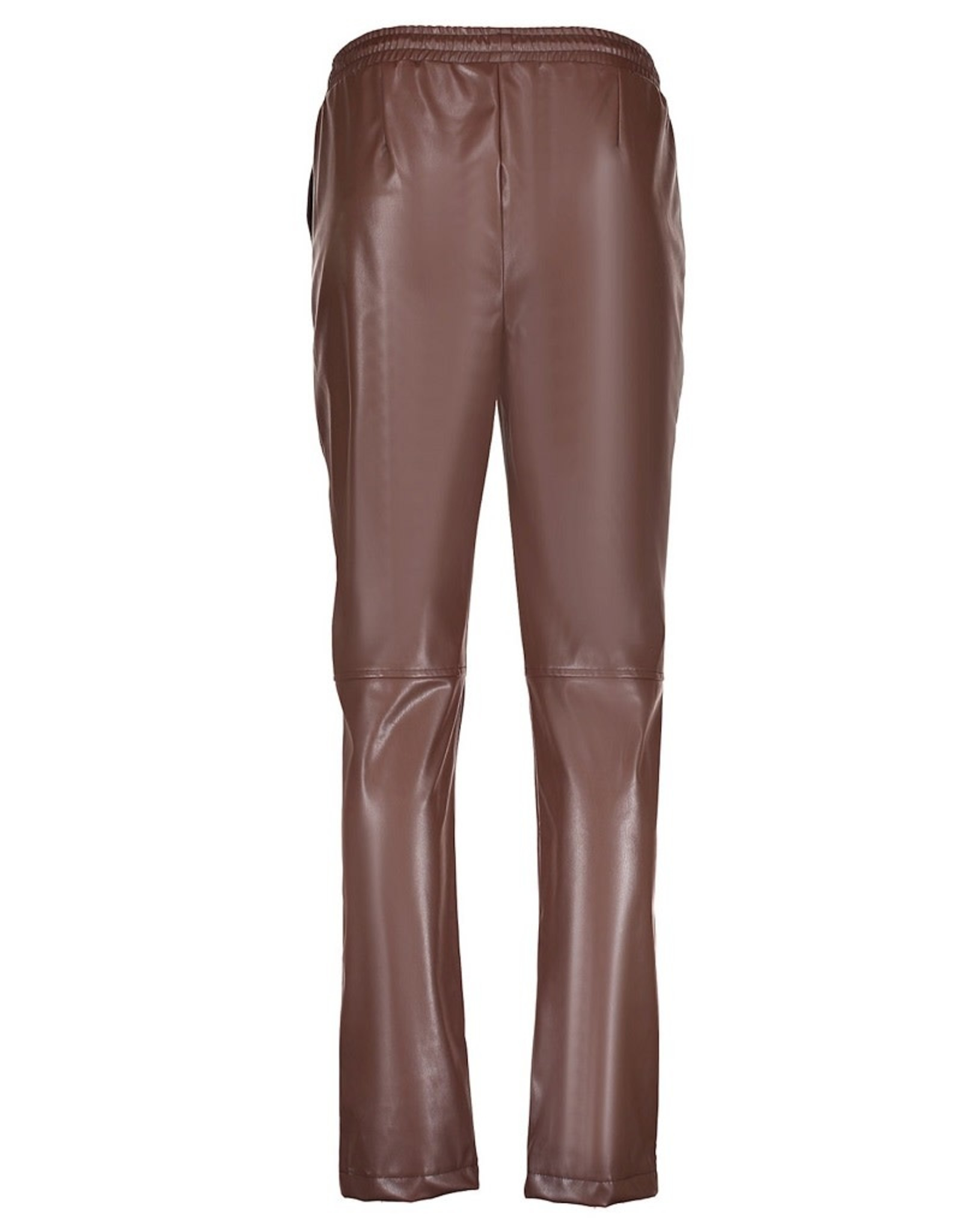 Geisha Geisha pants chino leather look brown