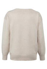 YAYA YAYA boothals sweater beige