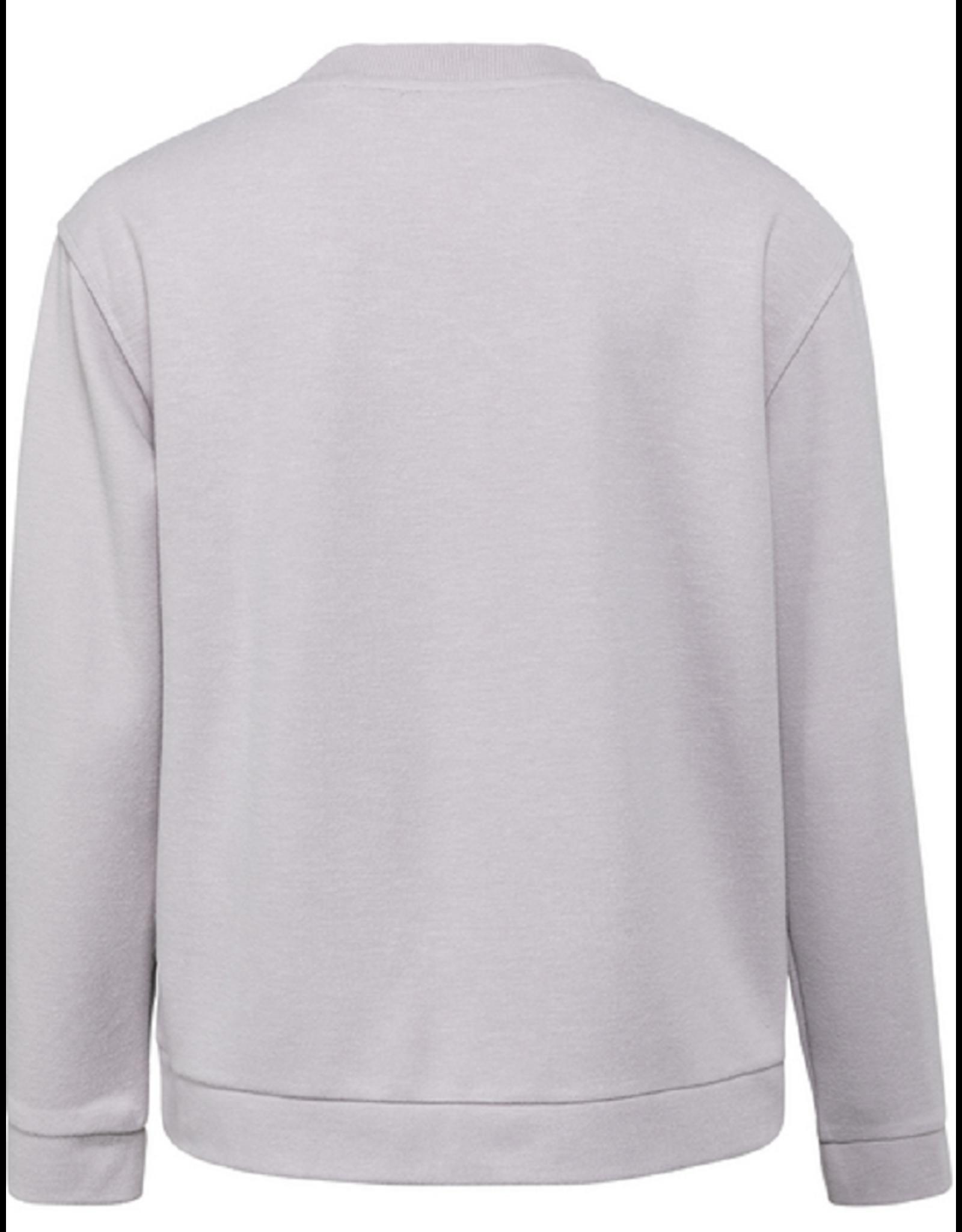 YAYA YAYA Soft sweater grey lila melange