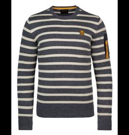 PME Legend PME Legend sweater streep blauw wit