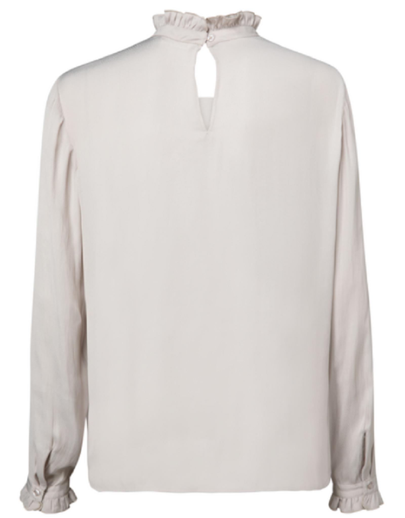 YAYA YAYA blouse ruffle neck grijs