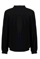 Geisha Geisha blouse met wrinkels zwart 13550