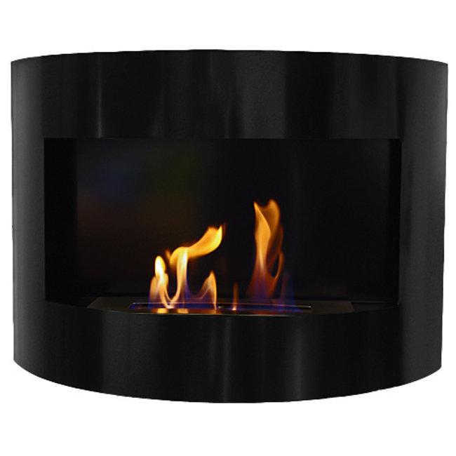 Home & Deco Bio-ethanol sfeerhaard Bonn zwart met regelbare brander