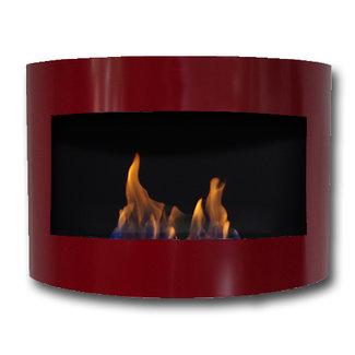 Dfire Bio-ethanol sfeerhaard Demian rood met regelbare brander