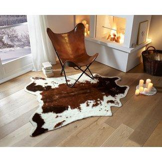 Home&Deco Imitatie koeienhuid bruin gevlekt L 160x130