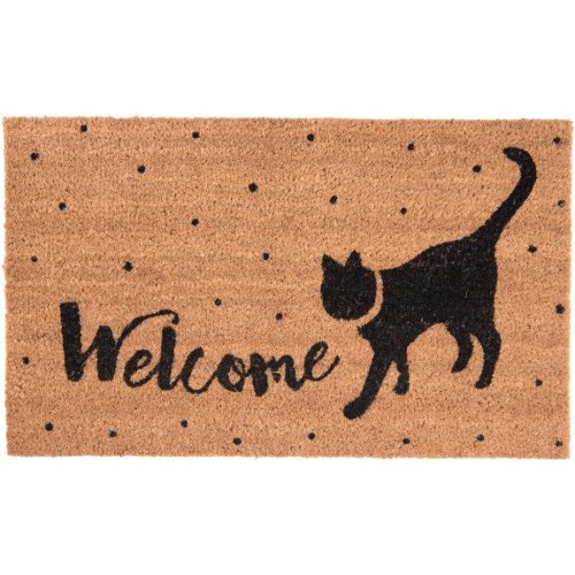 Clayre & Eef Deurmat zwarte kat