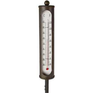 Home & Deco Thermometer op prikker messing 115 cm