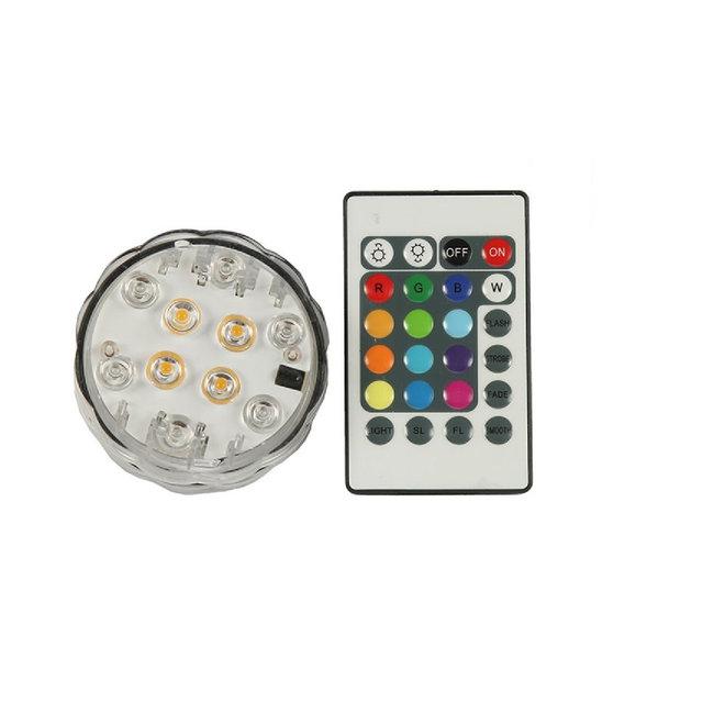 RGB LED-Base sfeerlicht met kaarslicht effect waterproof