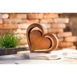 Home & Garden Metalen hart frame - Roest 23cm