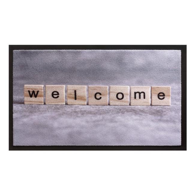 Hamat Deurmat  'Welcome' blokjes 45x75cm
