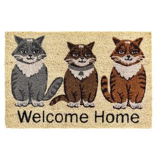 Hamat Kokos Deurmat Welcome Home Cats 40x60cm