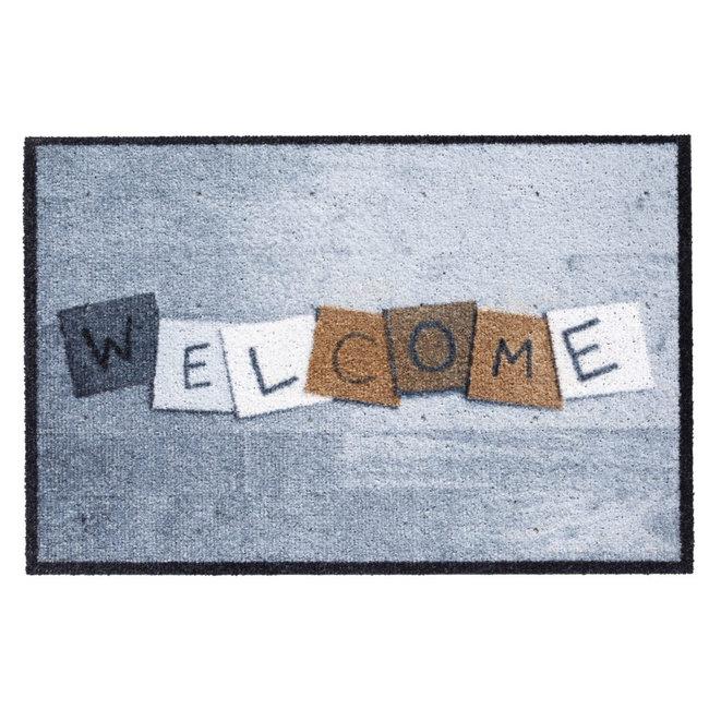 Hamat Buiten deurmat - Welcome blokjes - 50x75cm