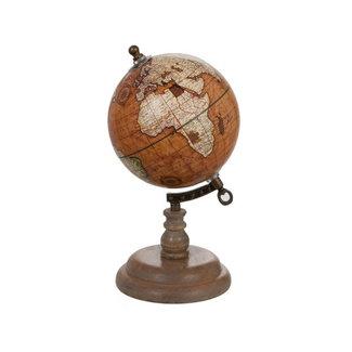 Vintage Decoratieve Wereldbol - 25cm