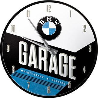Retro Klok BMW garage