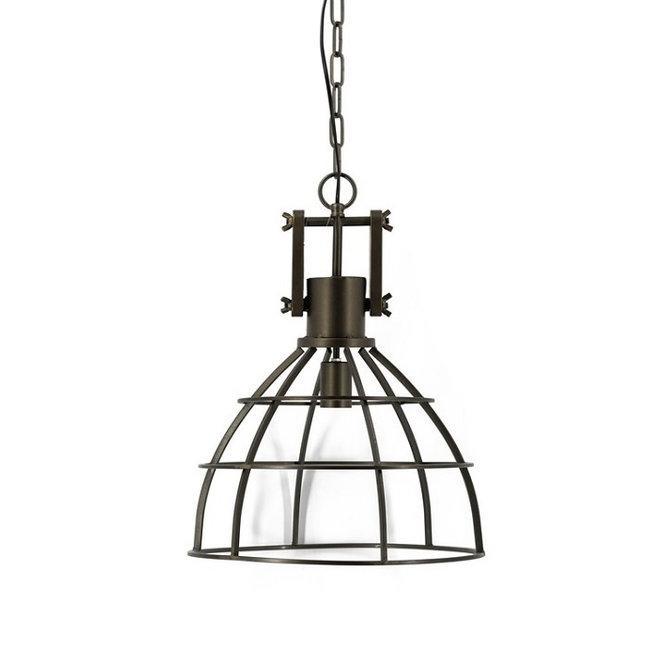 Bronzen industriële open hanglamp