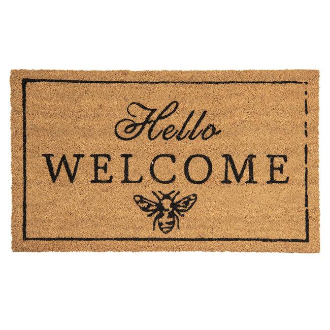 Clayre en Eef Kokos Deurmat Hello Welcome