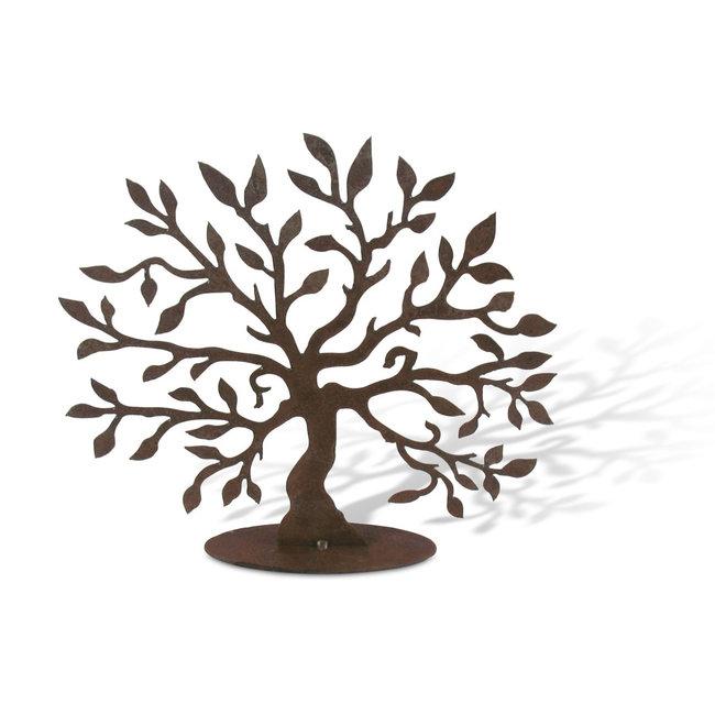 Levensboom S roest metaal 26  cm