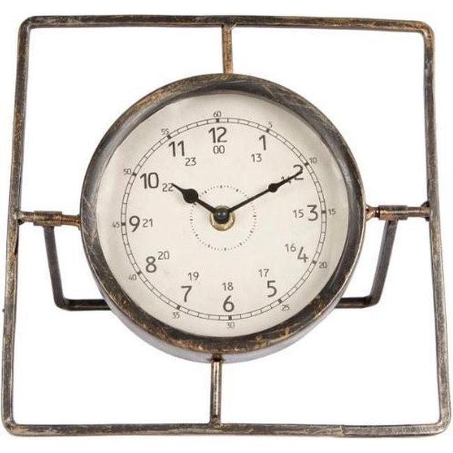 Home & Deco Metalen tafelklok Ruud 22 cm