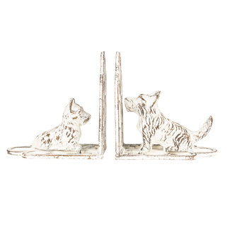 Clayre en Eef Metalen boekensteunen hond