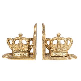 Clayre en Eef Metalen boekensteun gouden kroon