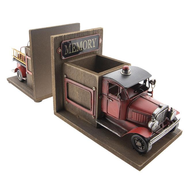 Clayre en Eef Boekensteun - penhouder vrachtauto 38 x 13 x 17 cm