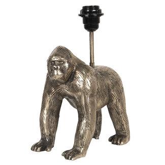 Clayre en Eef Tafellamp gorilla King Kong goudkleurig