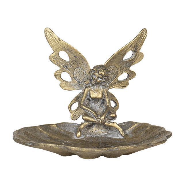 Clayre en Eef Decoratie schaaltje engel goud