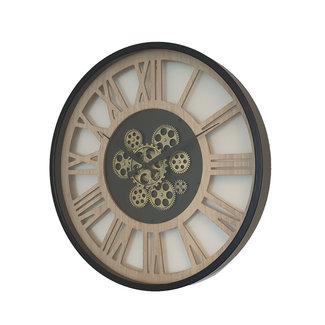 Mansion Radarklok tandwielklok Jose zwart met glasplaat 57 cm