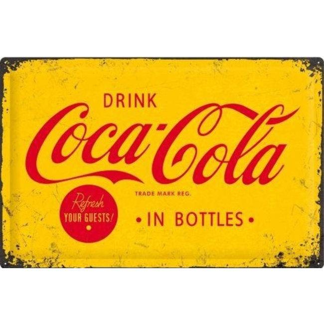 Drink Coca-Cola In Bottles Yellow 40 x 60 cm