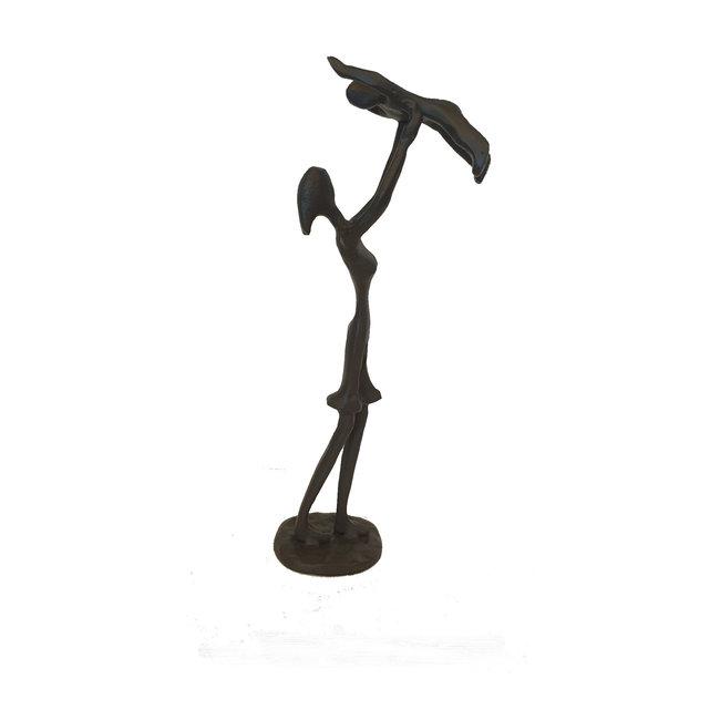 Sculptuur moeder en kind 7,7x4,5x25,4cm