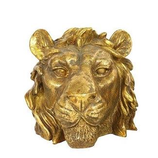 Home & Deco Decoratie leeuwen hoofd goud  1