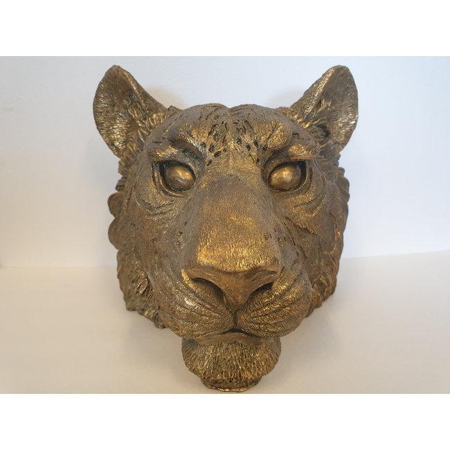 Home & Deco Decoratie leeuwen hoofd goud  2