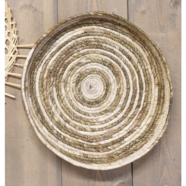 Bali-Dreams Riet wanddecoratie basket- mand 42x40x5cm