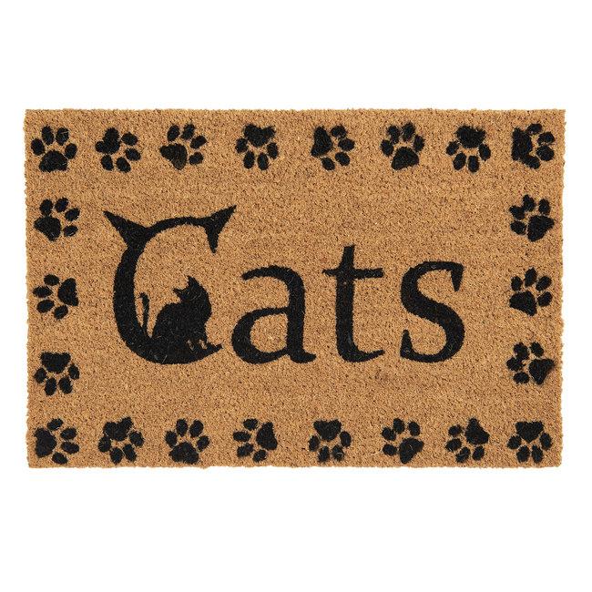 Clayre en Eef Kokos deurmat  Cats 60 x 40 cm